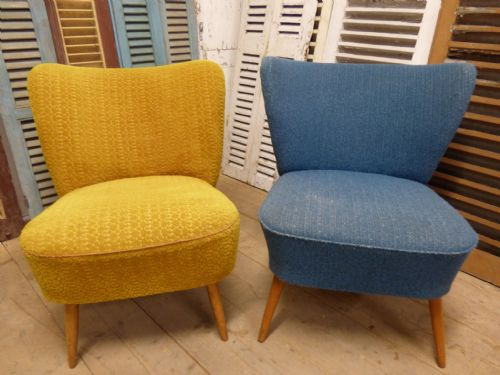 1950's Cocktail Chairs - ha68 & ha69